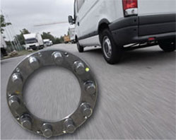 SafetyTrim: Truck Wheel Nut Safety System Locates and Locks Loose Wheel Nuts